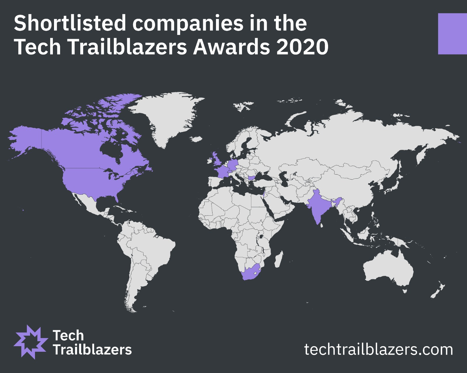 Tech Trailblazers Awards 2020 – shortlisted entrants from around the world