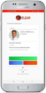 Eldir: Overwatch includes the Android application, Eldir Verify